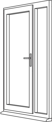 Heritage 2800 Decorative Residential Door - R4 Open In