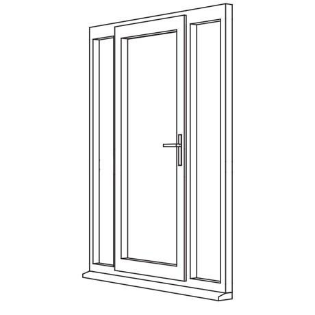 Heritage 2800 Decorative Residential Door - R6 Open In