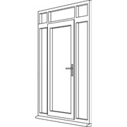Heritage 2800 Decorative Residential Door - R7 Open In