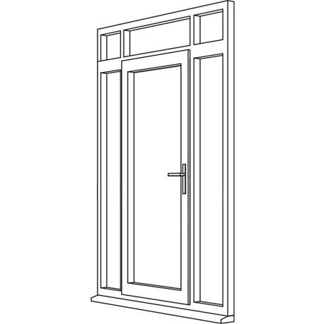 Heritage 2800 Decorative Residential Door - R7 Open In