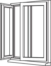 Traditional 2500 Casement - C10 Opener/Opener