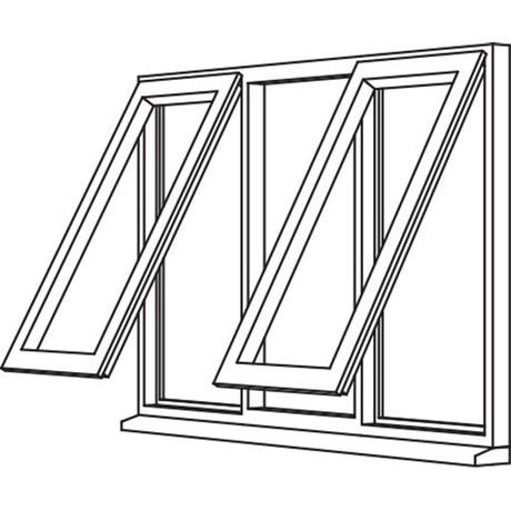 Traditional 2500 Casement - C34 Opener/Fixed/Opener