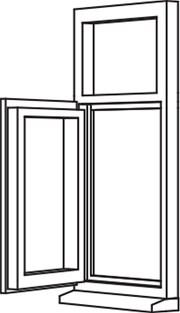 Traditional 2500 Casement - C7 Opener/Fixed