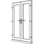 Traditional 2500 French Door - F1 Open In