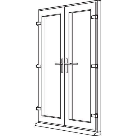 Traditional 2500 French Door - F1 Open Out