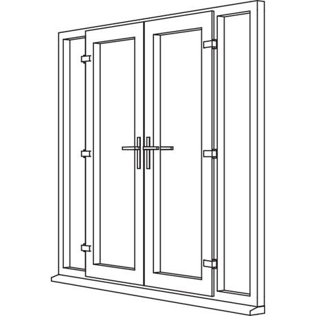 Traditional 2500 French Door - F4 Open In