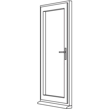 Traditional 2500 Residential Door - R1 Open In