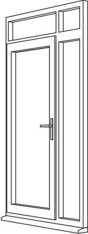Traditional 2500 Residential Door - R5 Open Out