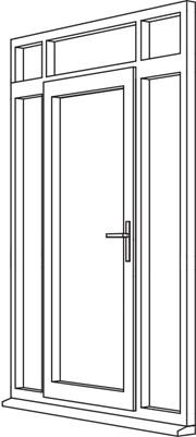 Traditional 2500 Residential Door - R7 Open In