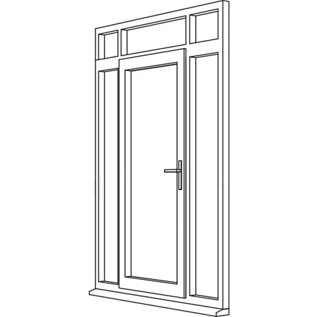 Traditional 2500 Residential Door - R7 Open Out