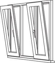 Traditional 2500 Tilt & Turn - TT5 Opener/Fixed/Opener