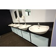 18 mm HPL Vanity Units - 350 mm Semi Recessed Top