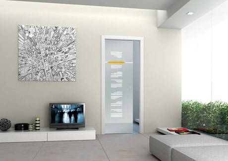 Sliding Pocket Door System with Glass Door Double