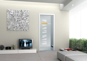 Sliding Pocket Door System with Glass Door Single