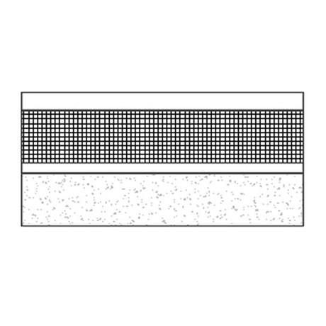 Flat mastic asphalt inverted roof on composite concrete and steel deck