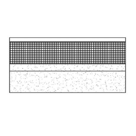 Flat mastic asphalt warm roof on concrete deck