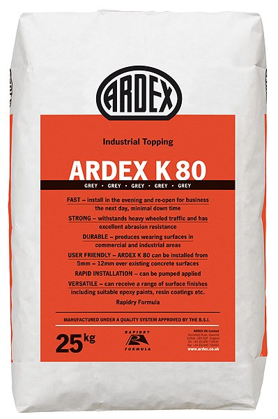 ARDEX K 80Rapid Drying Industrial Topping/Wearing Surface