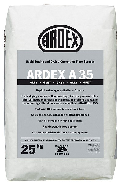 ARDEX A 35Ultra Rapid Drying Screed Cement