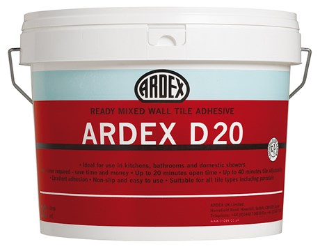 ARDEX D 20 Ready Mixed Wall Tile Adhesive