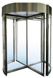 GyroSec FW Motorized Security Revolving Door - Semi-external, 4 wings and shutters
