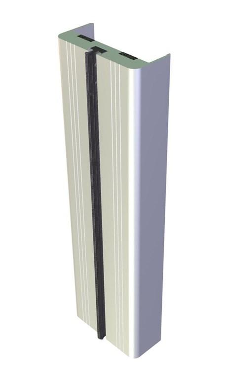 Aluminium Door Edge Guards Fire Rated - Square Profile