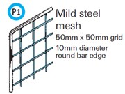 General Spectrum Balustrade System - Mild Steel Mesh