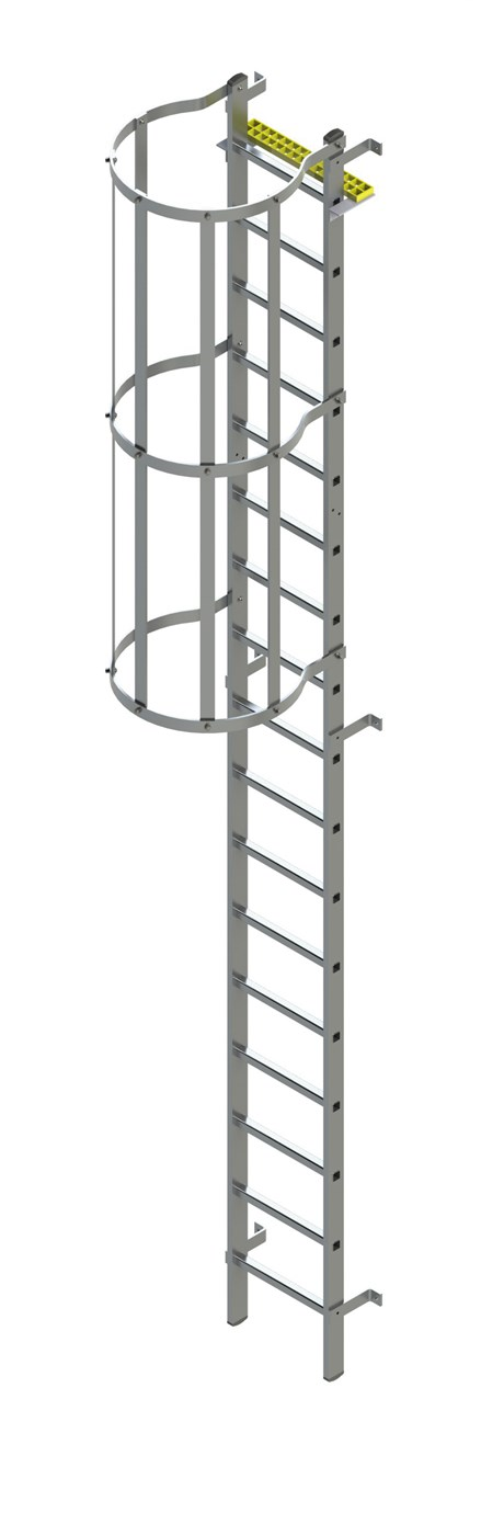 Bilco Ladders BL-A-WH -Fixed vertical ladder with safety cage