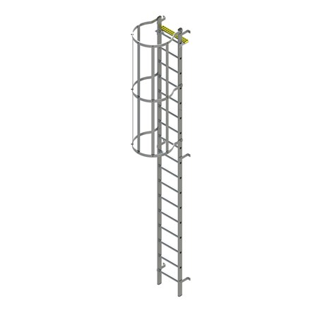 Bilco Ladders BL-S-WH - Fixed vertical ladder with safety cage