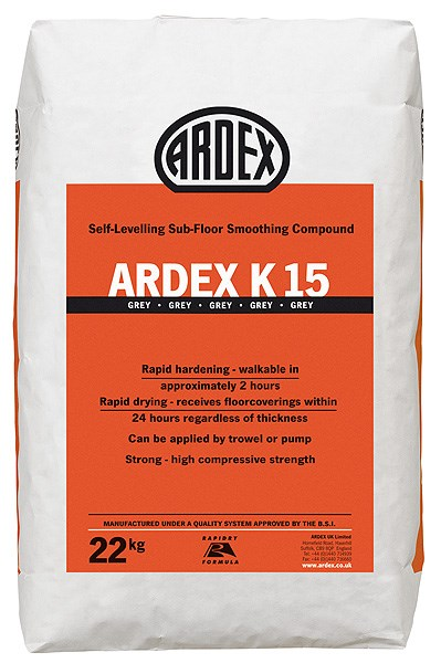 ARDEX K 15Rapid Drying Heavy Duty Self-Levelling Smoothing Compound