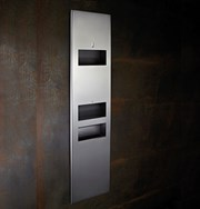 Modric Recessed Paper Towel Dispenser, Hand Dryer and Bin - SS2490