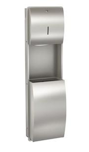 Combination paper towel dispenser and waste bin - STRX602E