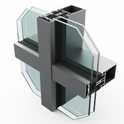 SF52 Mullion Drained Curtain Wall System