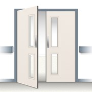 Postformed Double Swing Doorset - Vision Panel 2