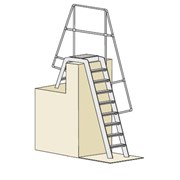 Ships companion way ladders (Double ladder)