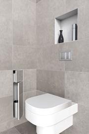 Brush Holder and Paperholder Double Door - Toilet roll holder