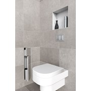 Brush Holder and Paperholder Double Door - Toilet roll holder