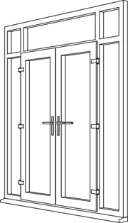 Heritage 2800 Decorative French Door - F7 Open In