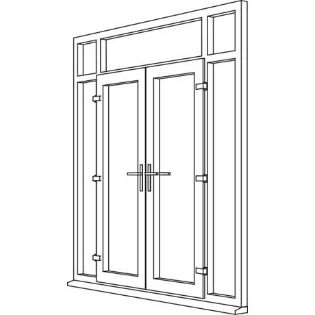 Heritage 2800 Decorative French Door - F7 Open In