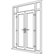 Heritage 2800 Decorative French Door - F7 Open Out