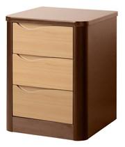 Acumen 3 Drawer Bedside Cabinet
