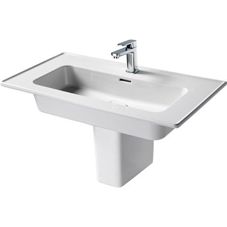 Fusaro Vanity Basin 80 White 1TH