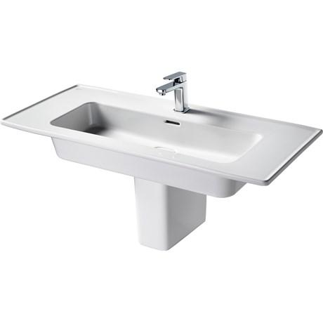 Fusaro Vanity Basin 100 White 1TH