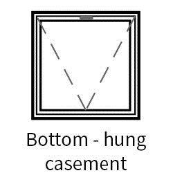 Series 45 Slimline Bottom Hung Hinged Casement