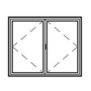 Series 45 Slimline Double Hinged Casement