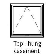 Series 45 Slimline Top Hung Hinged Casement