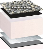 Bauder Thermofol PVC Inverted Roof System - Loose Ballasted