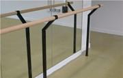 Floor-mounted Double Ballet Barre Bracket