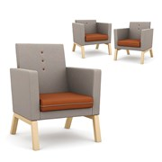 Me, myself and I -Upholstered Armchair