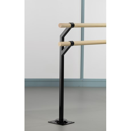 Floor-mounted Double Retro-fit Ballet Barre Bracket