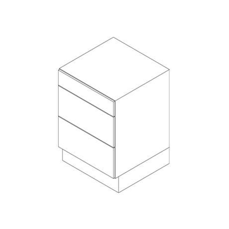 Base Cabinet, 3 Drawer